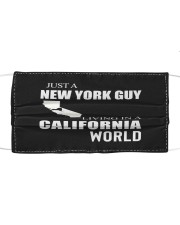 JUST A NEW YORK GUY IN A CALIFORNIA WORLD Cloth face mask thumbnail