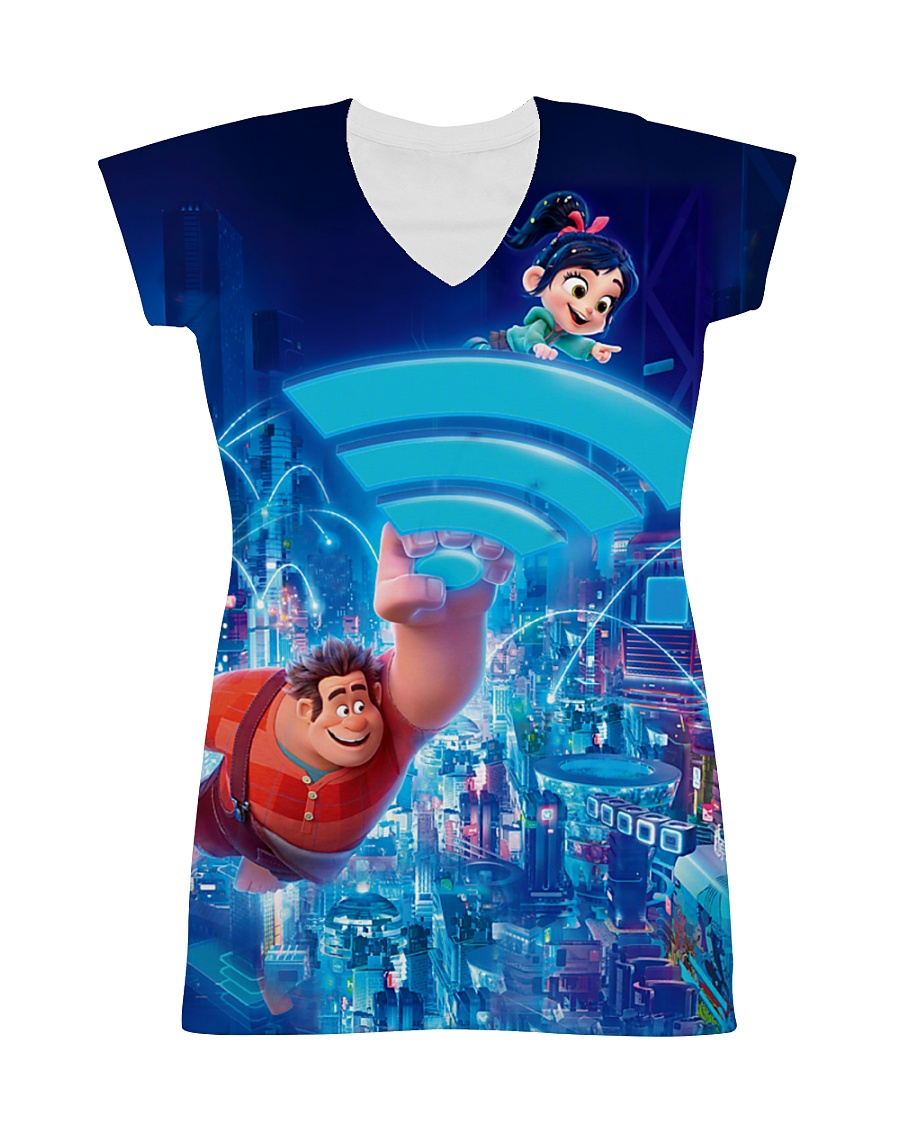 You are a big fan of Ralph breaks the Internet All-over Dress