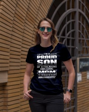 I'M A PROUD SON OF A FREAKING AWESOME MOM Ladies T-Shirt lifestyle-women-crewneck-front-2