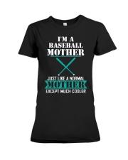 I'M A BASEBALL MOTHER Premium Fit Ladies Tee thumbnail