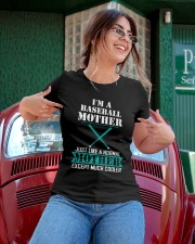 I'M A BASEBALL MOTHER Ladies T-Shirt apparel-ladies-t-shirt-lifestyle-01