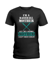 I'M A BASEBALL MOTHER Ladies T-Shirt front