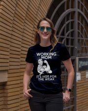 WORKING MOM ITS NOT FOR THE WEAK Ladies T-Shirt lifestyle-women-crewneck-front-2