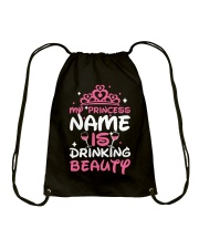 MY PRINCESS NAME IS DRINKING BEAUTY Drawstring Bag tile