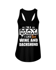 MAY WOMAN DACHSHUND Ladies Flowy Tank thumbnail
