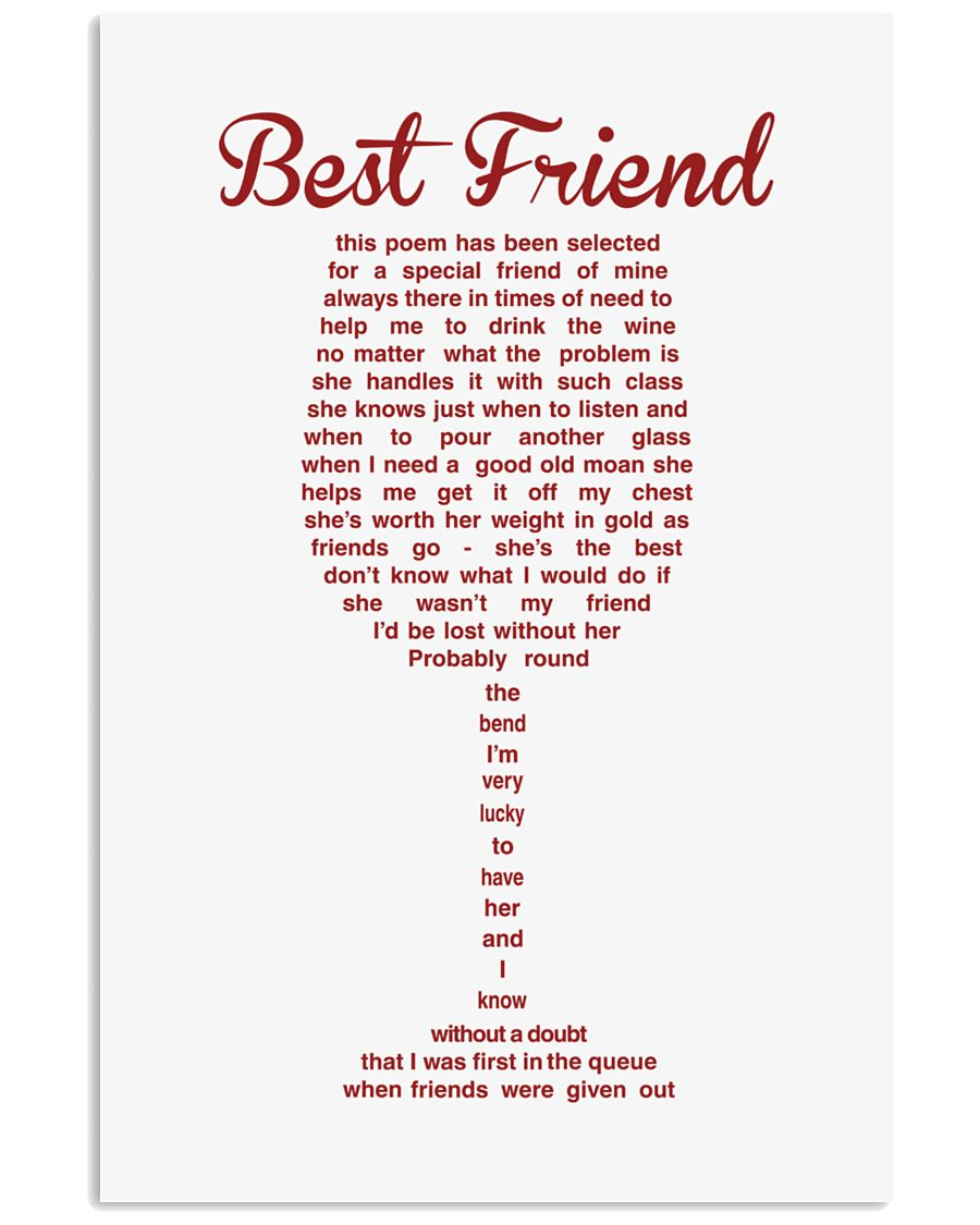 THIS POEM HAS BEEN SELECTED FOR A SPECIAL FRIEND 11x17 Poster