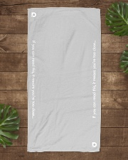 DO Summer COVIDition-19 Beach Towel aos-towelbeach-vertical-front-lifestyle-1