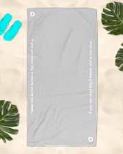 DO Summer COVIDition-19 Beach Towel aos-towelbeach-vertical-front-lifestyle-2