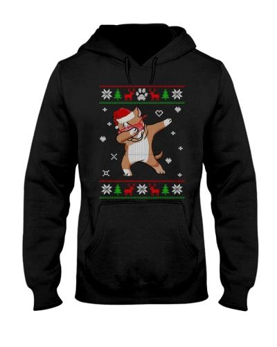 Ugly Sweater Christmas Pitbull Dabbing Dance