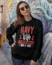 Proud Wife of A Navy Sweatshirts Shirt Mug Crewneck Sweatshirt lifestyle-unisex-sweatshirt-front-3