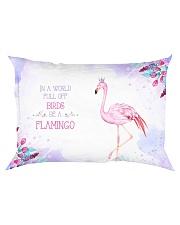 In a world full of birds be a flamingo Rectangular Pillowcase thumbnail
