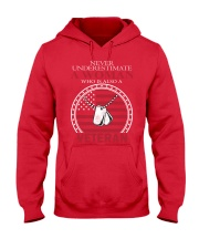 Never underestimate Female Veterans  Hooded Sweatshirt thumbnail