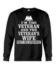 Female Veterans - Superpower Crewneck Sweatshirt front