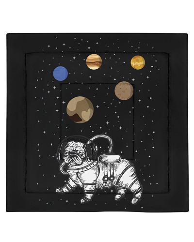 Pug astronaut space traveling