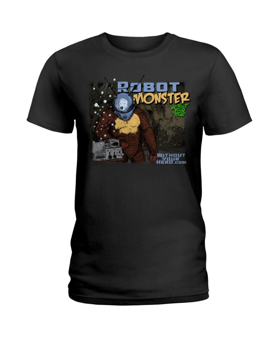 Without Your Head B-Movie Monster T-Shirt Style 2  Ladies T-Shirt