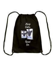 Keep Calm Aurelius Read On Drawstring Bag front