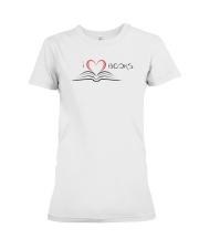 I Love Books T-Shirt Premium Fit Ladies Tee front