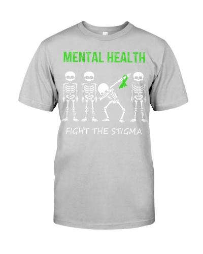 Mental Health fight the stigma dabbing