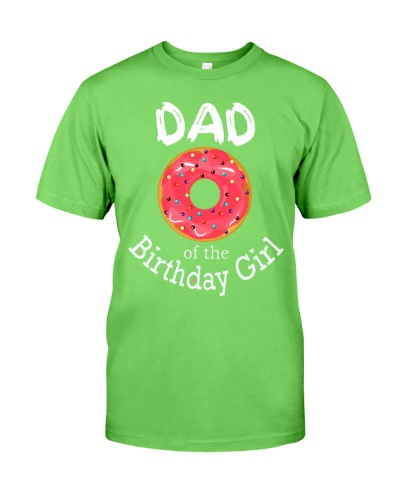 Family Donut Birthday Shirt DAD of the Birthday