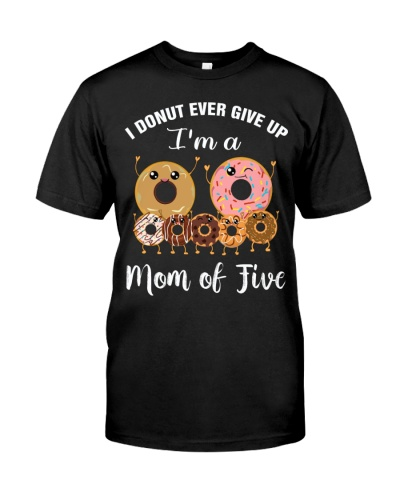 Womens Mom of Five Cute Mom of 5 Tee Mothers Day