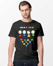 BeIn-Tees Autism - Mom of a Warrior Classic T-Shirt lifestyle-mens-crewneck-front-15