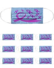 Epilepsy Awareness Ribbon Cloth Face Mask - 10 Pack front
