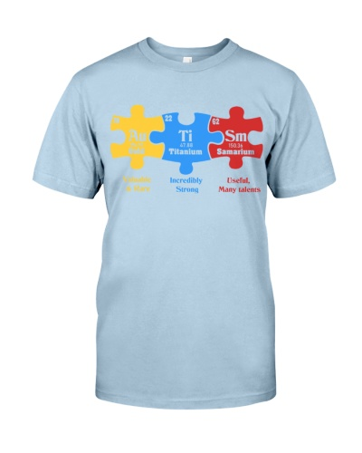 Autism Awareness Puzzle Chemical Element