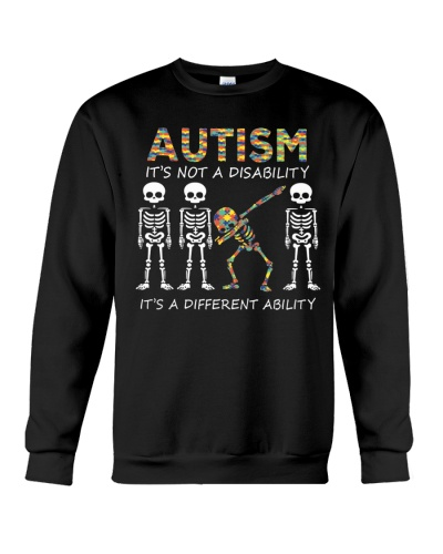 Autism Its NOT A DISABILITY Dabbing Skeleton