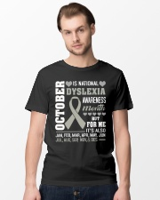 October is Dyslexia Awareness Month Classic T-Shirt lifestyle-mens-crewneck-front-15