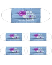 Her Fight Is My Fight Cloth Face Mask - 5 Pack front