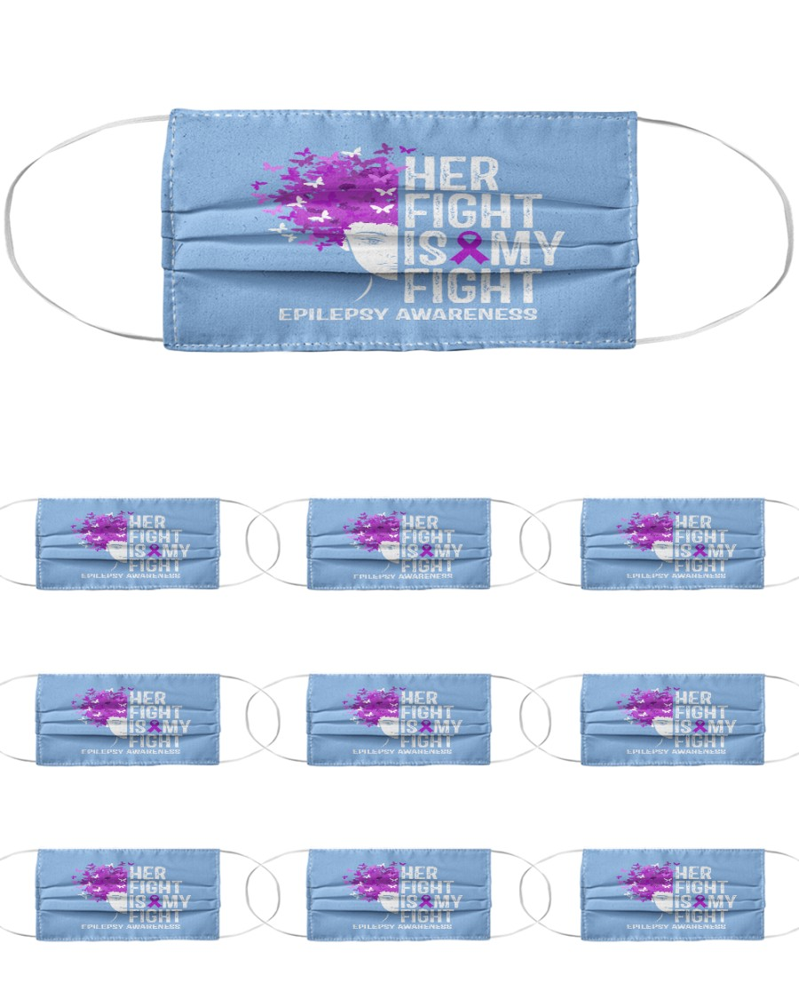 Her Fight Is My Fight Cloth Face Mask - 10 Pack