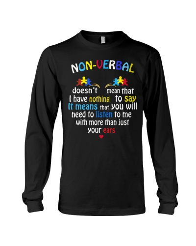 NONVERBAL AUTISM Valentine's Day Puzzle Piece Gift