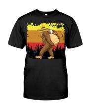 Bigfoot Carrying Taco - Bigfoot Retro Vintage Classic T-Shirt front