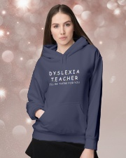 Dyslexia Teacher Hooded Sweatshirt lifestyle-holiday-hoodie-front-1