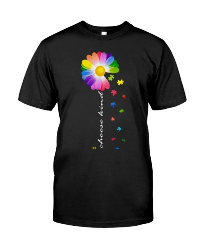 choose kind Autism awareness daisy flower