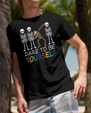 Autism Dare To Be Yourself Classic T-Shirt lifestyle-mens-crewneck-front-10