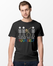Autism Dare To Be Yourself Classic T-Shirt lifestyle-mens-crewneck-front-15