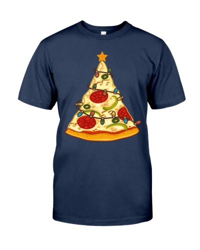 Funny Pizza Christmas Tree Lights Men Crustmas