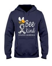 Bee Kind Dyslexia Awareness Day Hooded Sweatshirt front