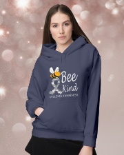 Bee Kind Dyslexia Awareness Day Hooded Sweatshirt lifestyle-holiday-hoodie-front-1