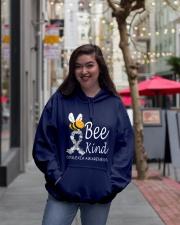 Bee Kind Dyslexia Awareness Day Hooded Sweatshirt lifestyle-unisex-hoodie-front-2