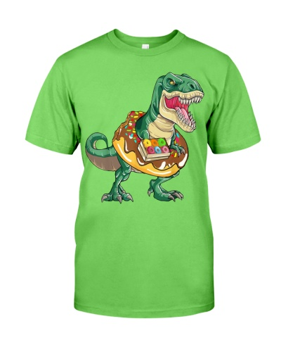 T Rex Donuts Dinosaur Shirt Gift Kids Men Women