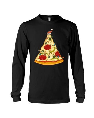 Funny Pizza Christmas Tree Lights Men Crustmas
