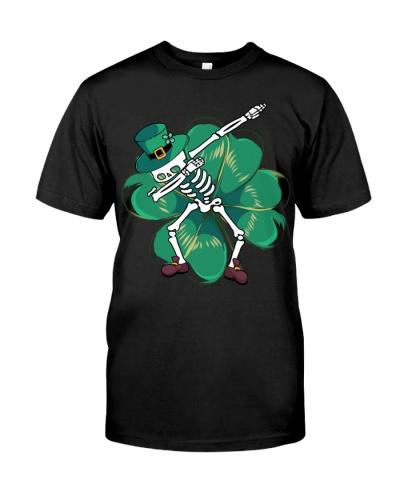 St Patricks Day Dabbing Skeleton Boys Kids Gift