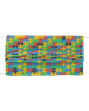 Autism Awareness Colorful Puzzles Cloth face mask front