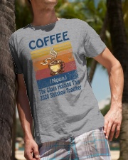 Coffee Noun The Glues Holding This 2020 Shitshow  Classic T-Shirt lifestyle-mens-crewneck-front-10