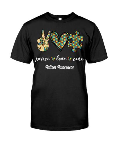 Peace Love Cure autism Awareness