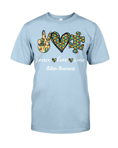 Peace Love Cure autism Awareness