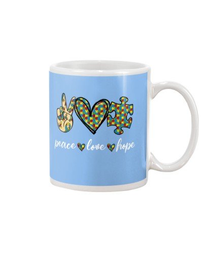 Peace Love Hope Autism Awareness