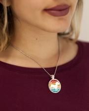 Dachshund Love Metallic Circle Necklace aos-necklace-circle-metallic-lifestyle-1